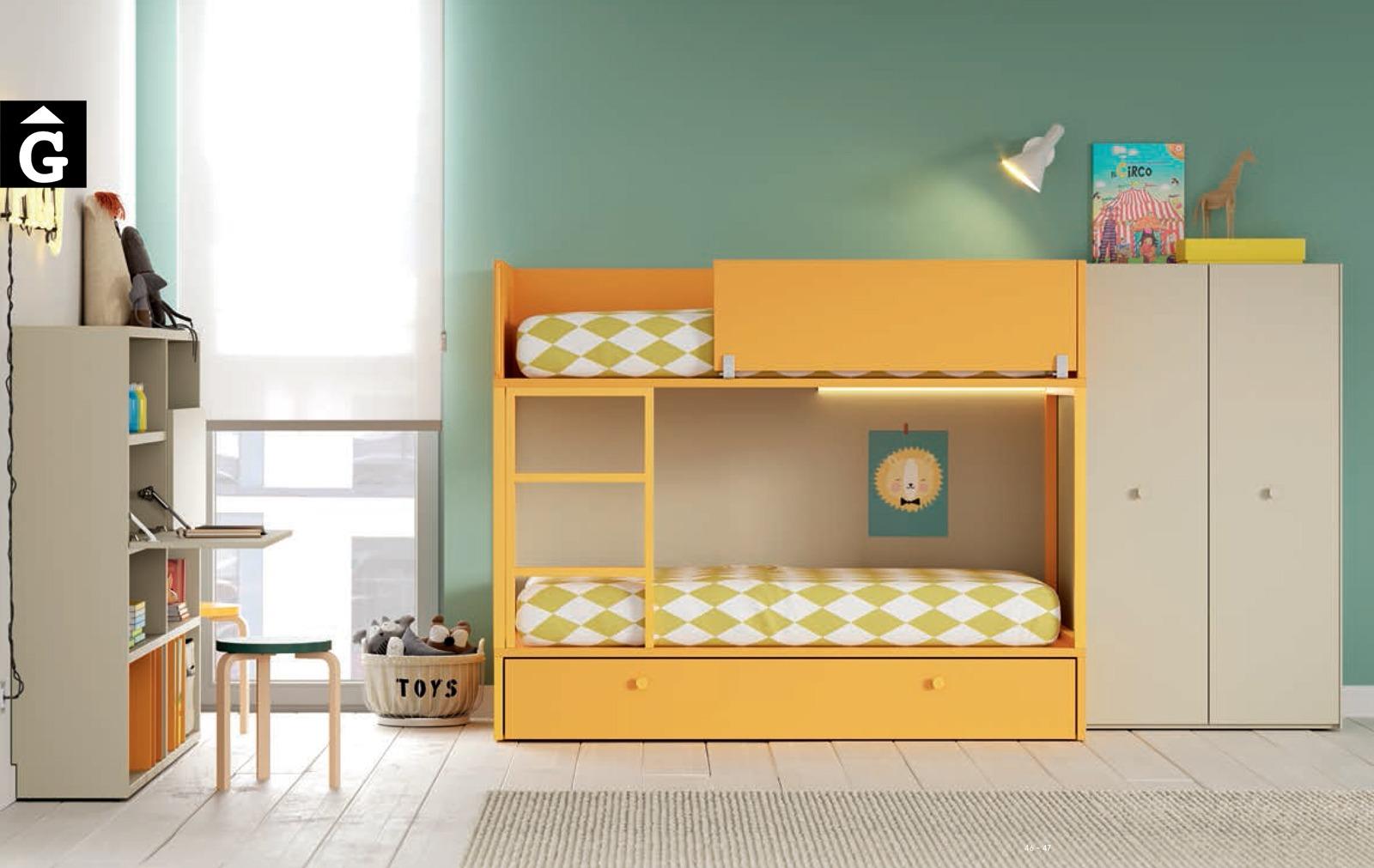 Habitació Juvenil amb llitera Ambar I lagrama | mobles Gifreu