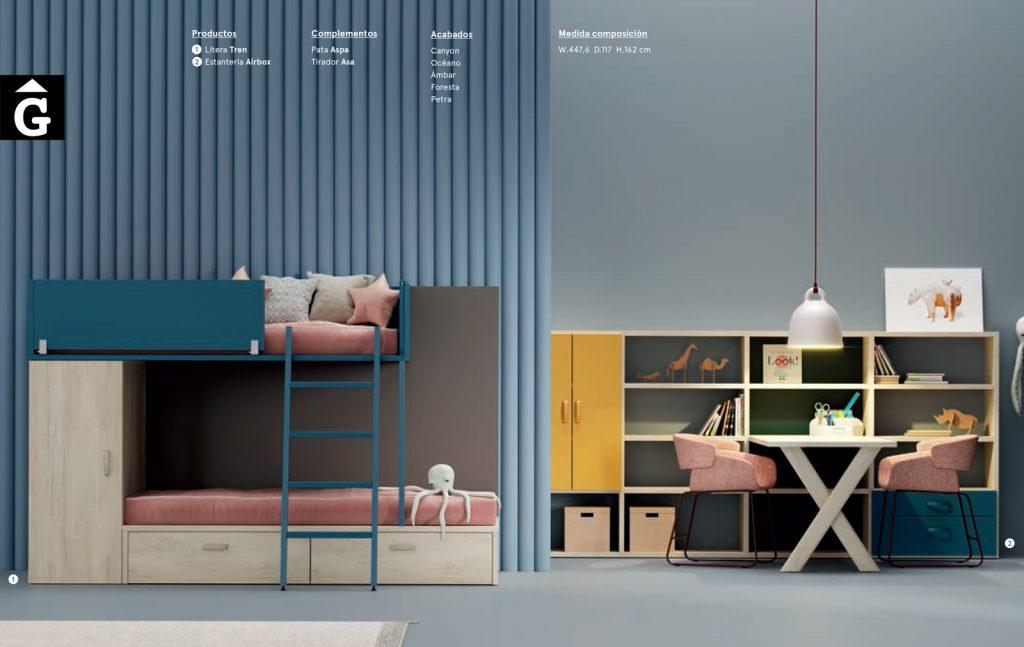 Habitació Juvenil amb llitera tren | lagrama | mobles Gifreu