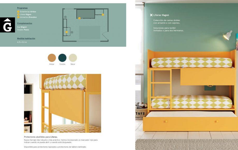 Habitació Juvenil llitera Ambar   Detall   lagrama   mobles Gifreu