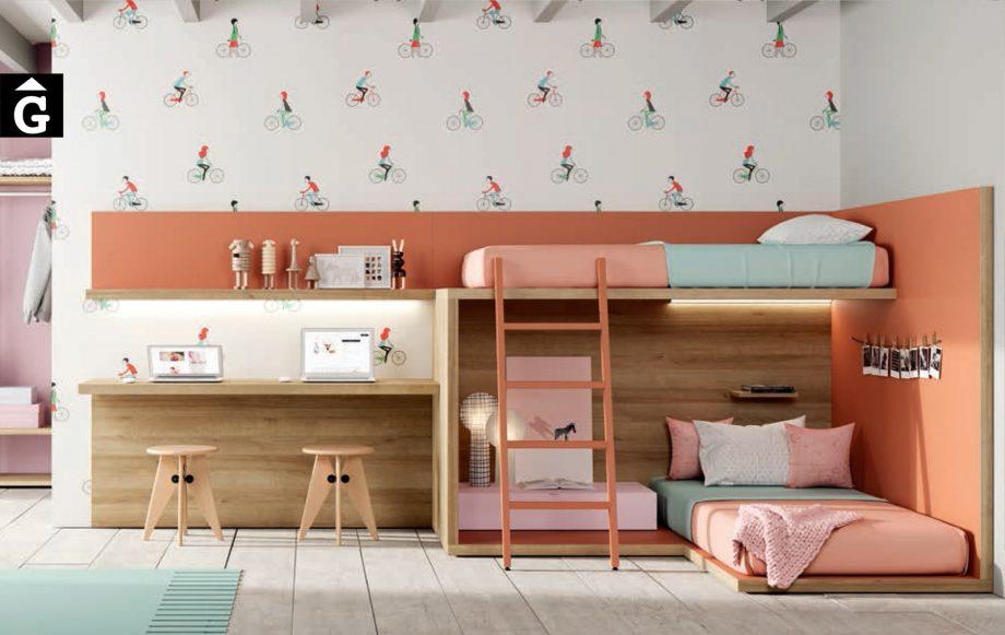 Llitera Cottage ambient càlid | Habitació Juvenil I lagrama | mobles Gifreu