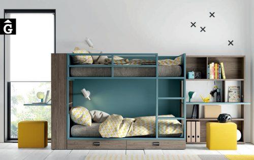 Llitera amb calaixos Aqua Marina |Habitació Juvenil I lagrama | mobles Gifreu