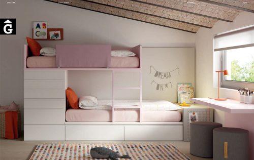 Llitera tren amb calaixos | Habitació Juvenil I lagrama | mobles Gifreu