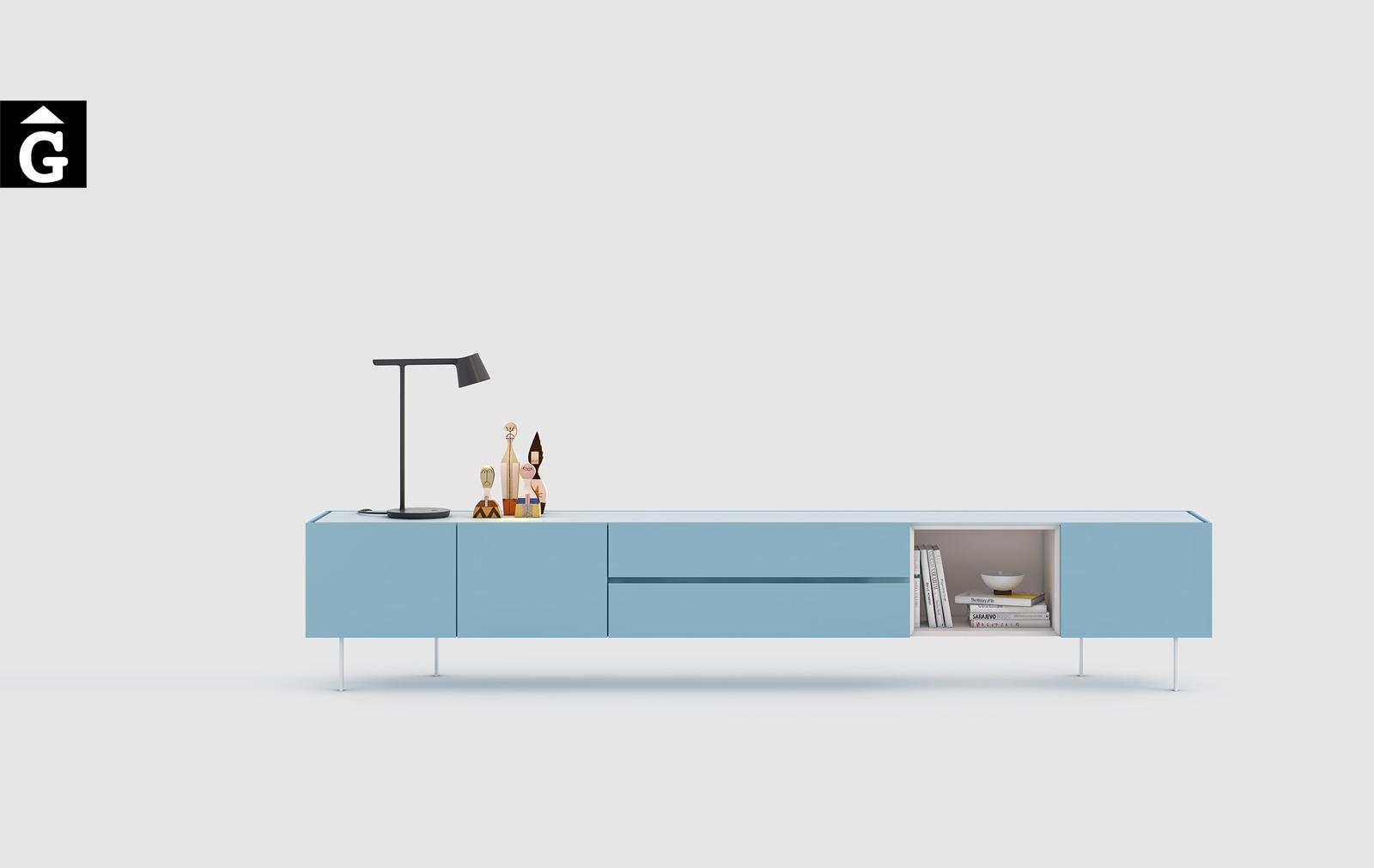 Moble TV laca blau | Area One | mobles Ciurans | mobles Gifreu