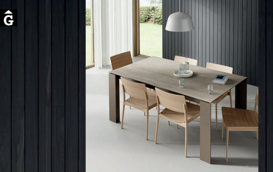 Taula menjador Tavole Porcellànic i metall   Moble de Qualitat   Vive   mobles Gifreu