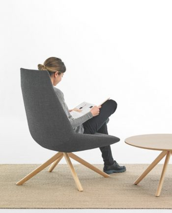 Butaca Dunas XL pota central fusta roure