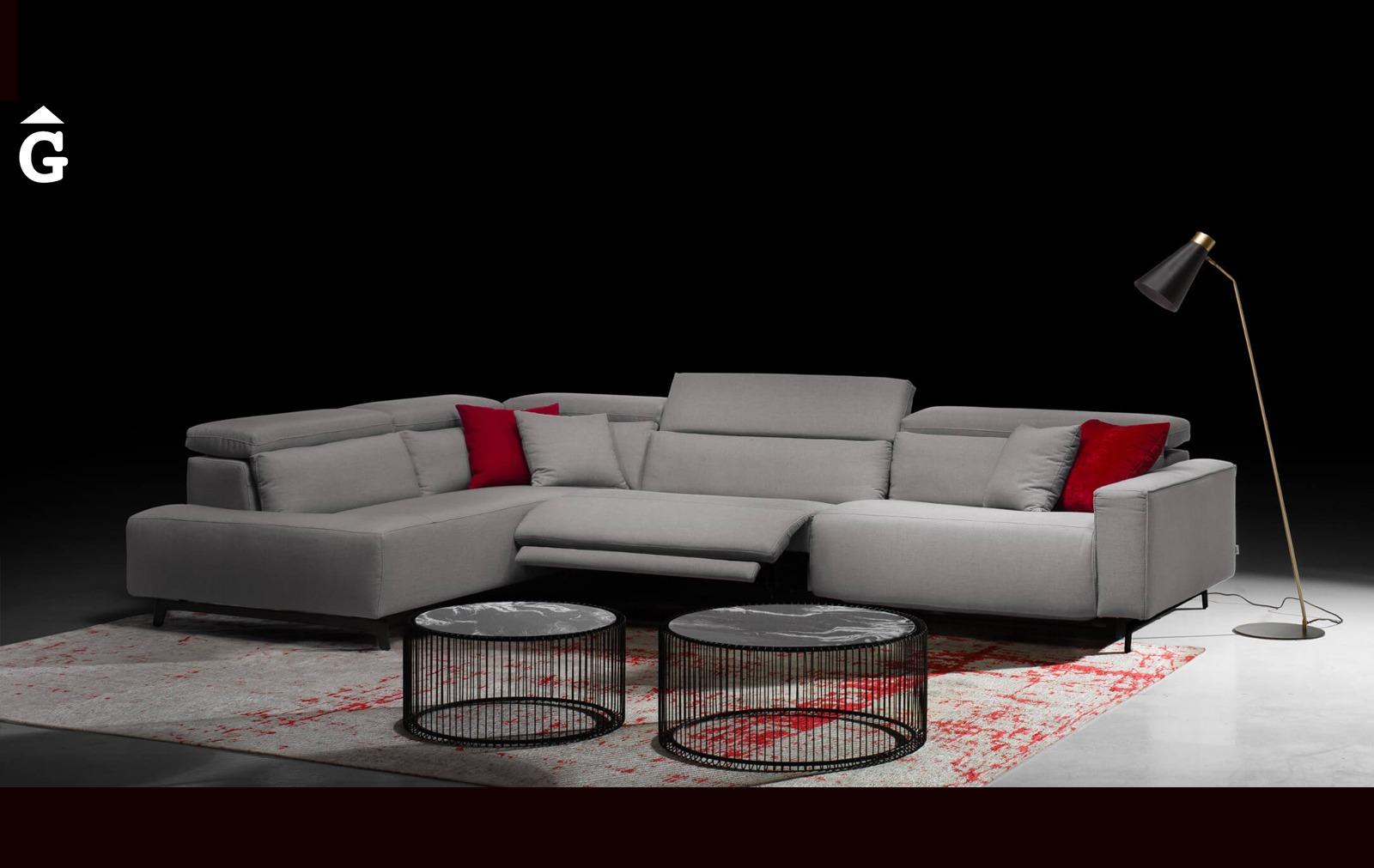 Composició sofà terminal Shira | Vista frontal | Moradillo | mobles Gifreu