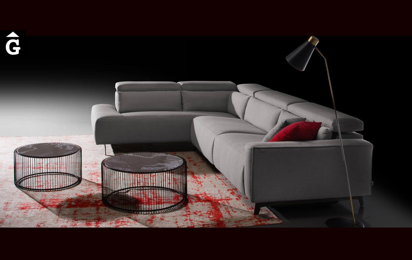 Composició sofà terminal Shira | Vista perfil | Moradillo | mobles Gifreu