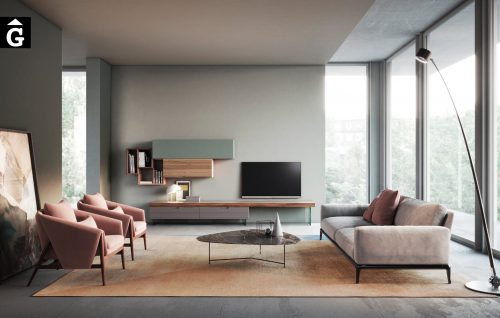 Composició moble televisor - moble sala estar - living - Devina Nais - mobles Gifreu