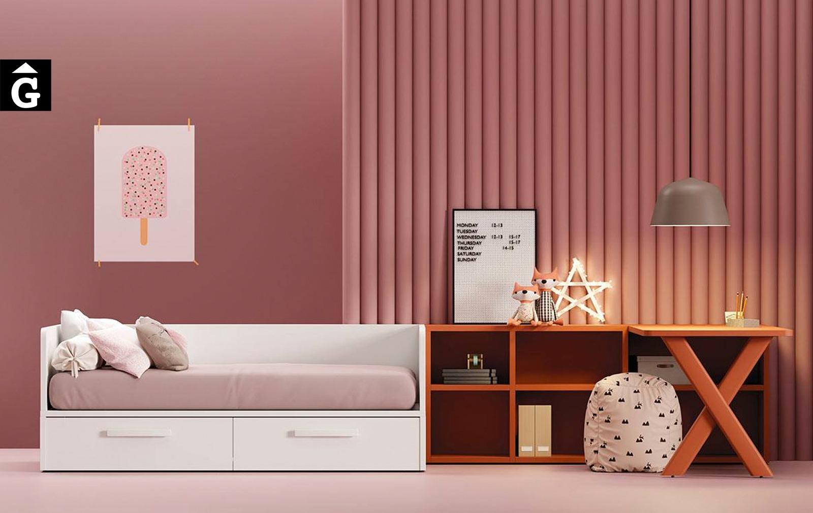 Habitació amb llit niu 2 calaixos   Jove   Minimal   Joven   lagrama   mobles Gifreu