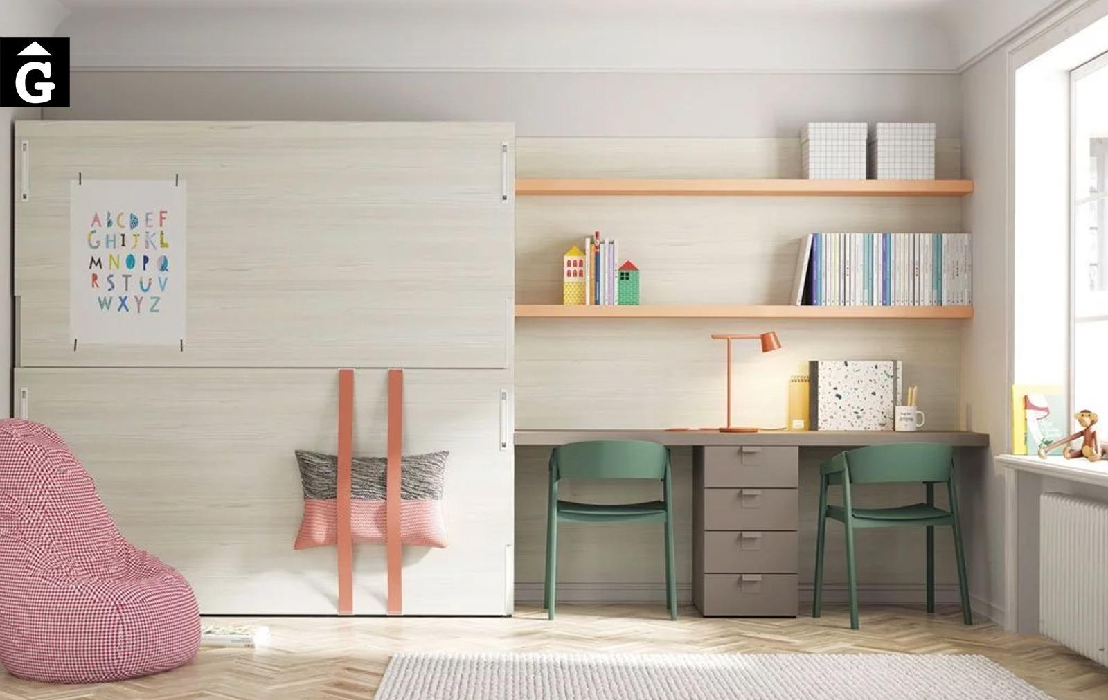 Habitació i estudi Up & Down | llits abatibles | Pràctics, saludables i segurs | Jotajotape | mobles Gifreu