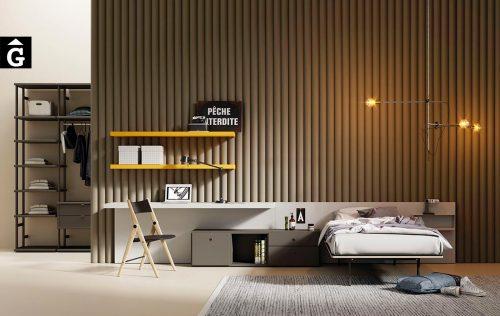 Habitació individual panel recte blanc | lagrama | mobles Gifreu