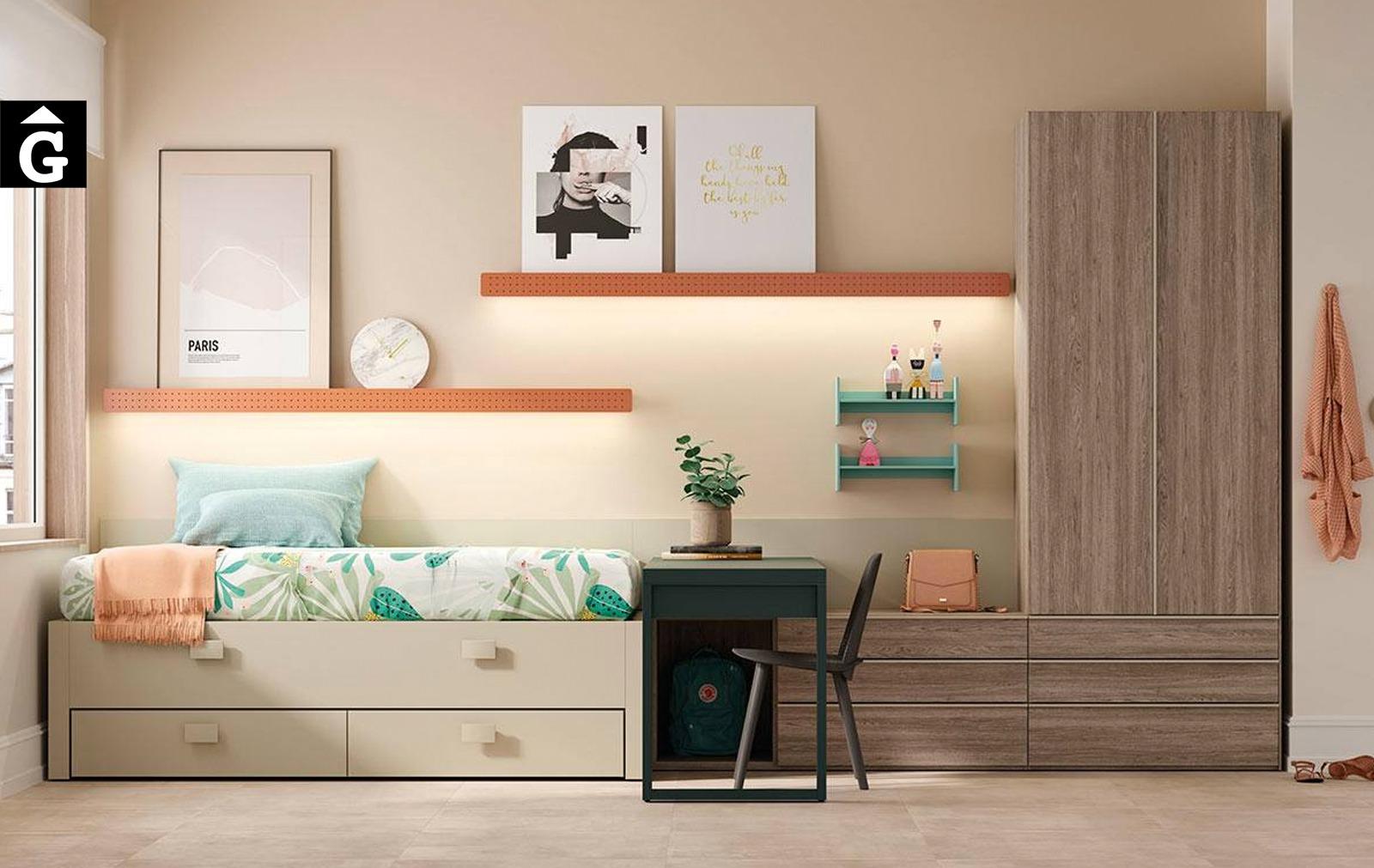 Habitació juvenil amb Llit lliscant Grenoble   lagrama   mobles Gifreu