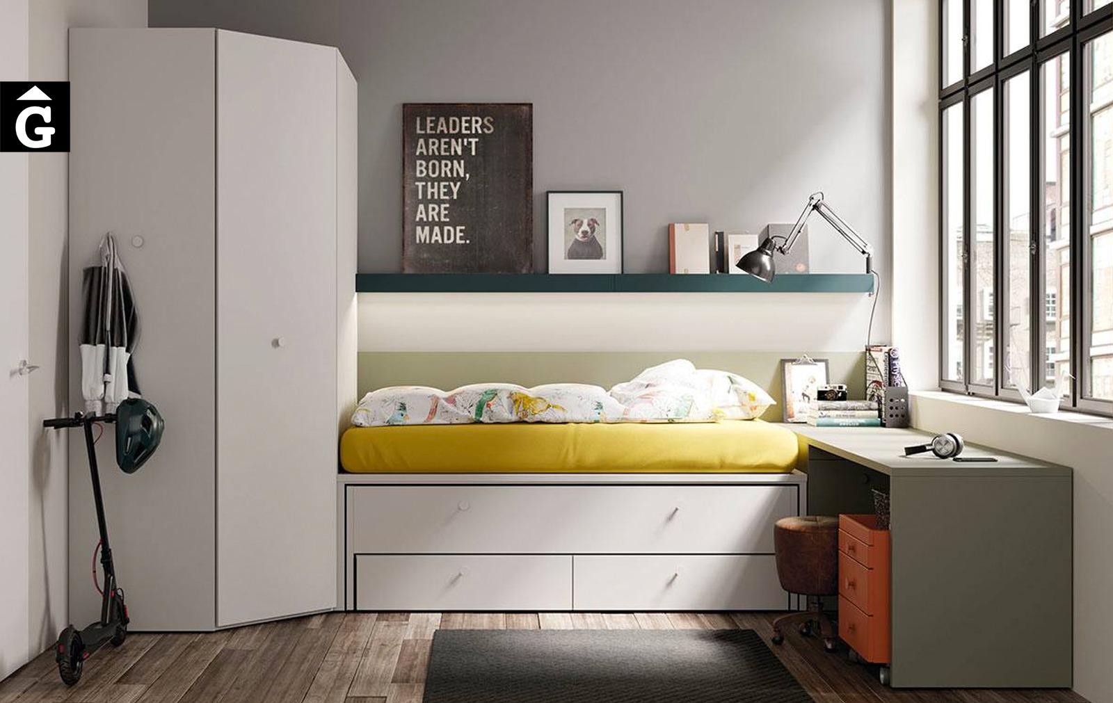 Habitació juvenil amb llit lliscant reversible   lagrama   mobles Gifreu
