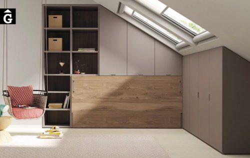 Habitació llit abatible a les golfes | Up & Down | llits abatibles | Pràctics, saludables i segurs | Jotajotape | mobles Gifreu