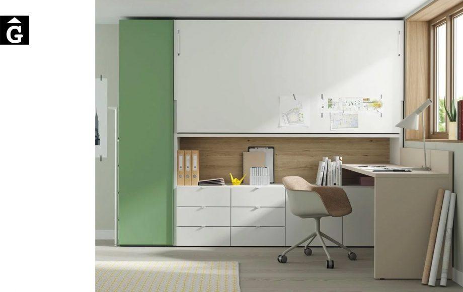 Habitació llit abatible horitzontal alt Up & Down | llits abatibles | Pràctics, saludables i segurs | Jotajotape | mobles Gifreu