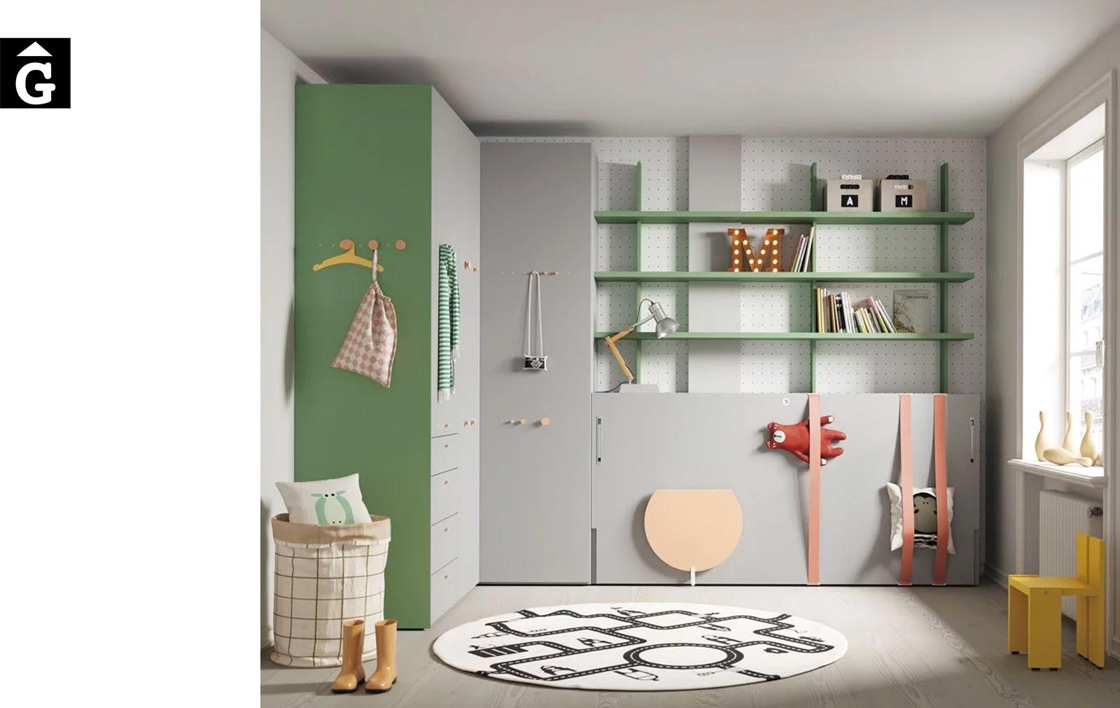 Habitació llit abatible individual Forest | Up & Down | llits abatibles | Pràctics, saludables i segurs | Jotajotape | mobles Gifreu