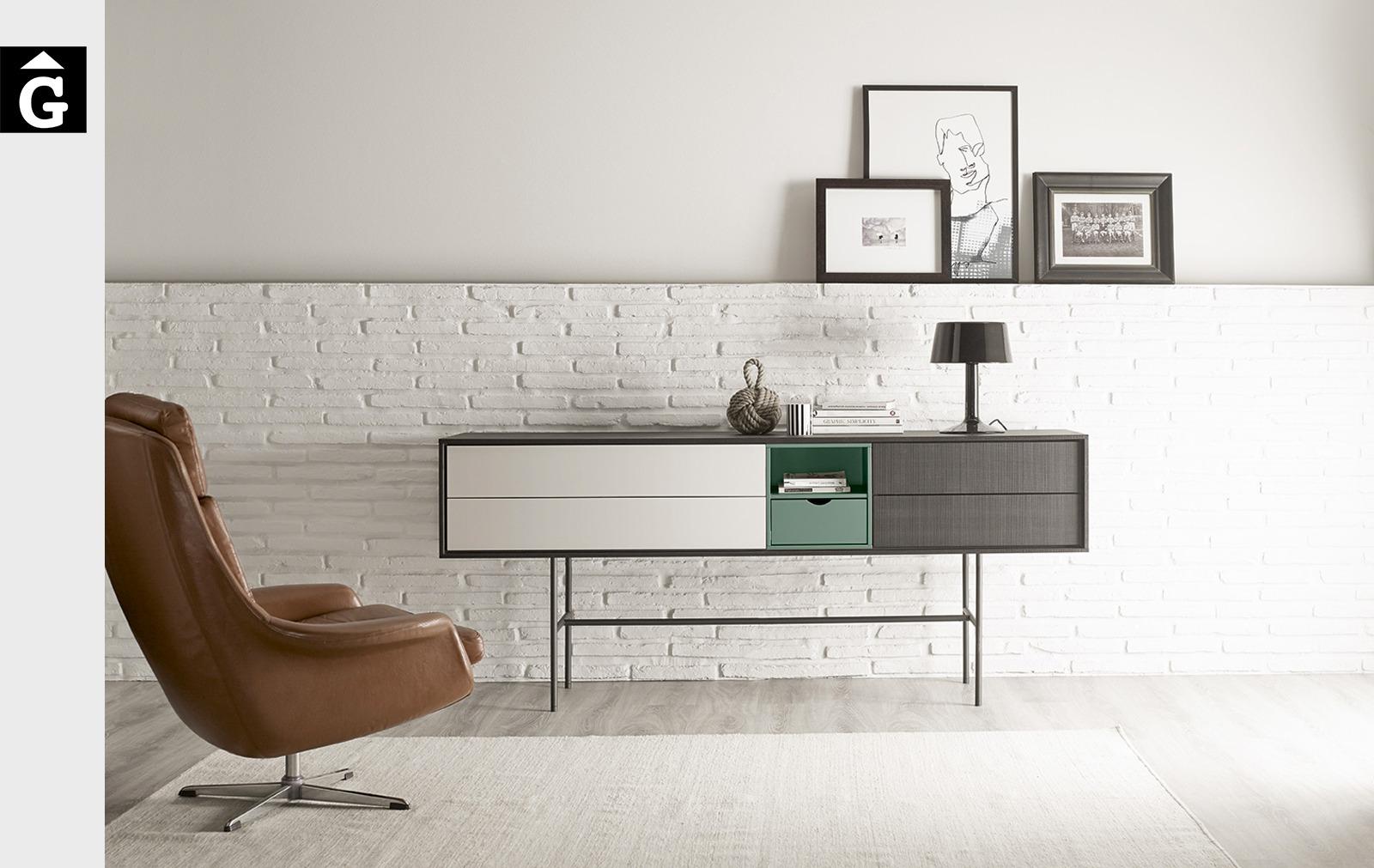Moble Aura amb potes altres metall | Treku | mobles contemporanis amb tradició | mobles Gifreu
