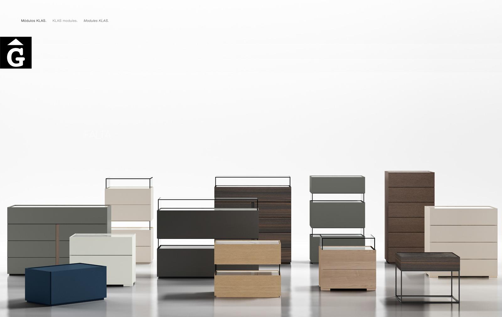 Moduls Klas | Habitacions llit gran | Bedrooms Emede by mobles Gifreu Llits grans matrimoni singel disseny actual qualitat premium