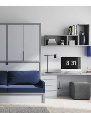 Sala estar | Estudi | Llit abatible | Up & Down | llits abatibles | Pràctics, saludables i segurs | Jotajotape | mobles Gifreu