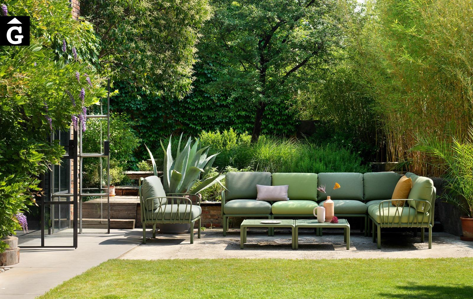 Sofà raconer exterior Komodo | Verd Giungla | Nardi | mobiliari d'exterior amb disseny italià