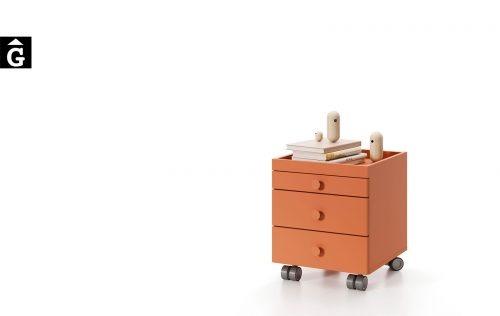 Tauleta amb rodes habitació juvenil | Joven | lagrama | mobles Gifreu