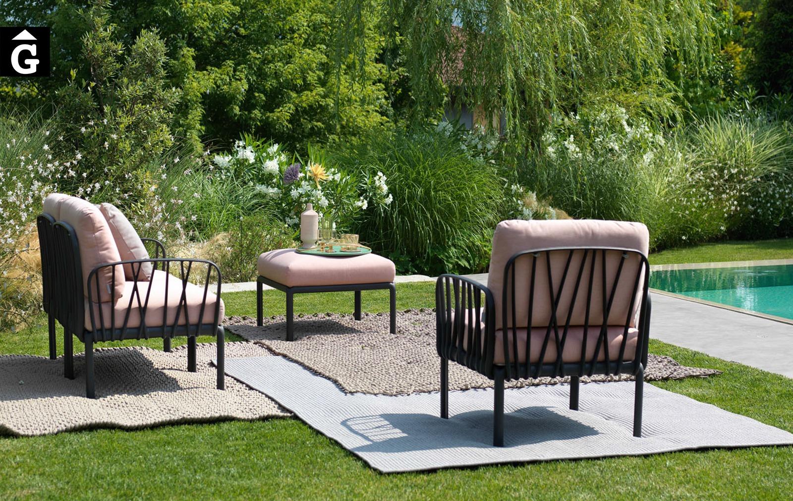 Butaques d'exterior Komodo | Premi Good Design Xicago 2019 i Premi Nardi German Design Award winner 2020| mobiliari d'exterior amb disseny i a preus excel·lnts