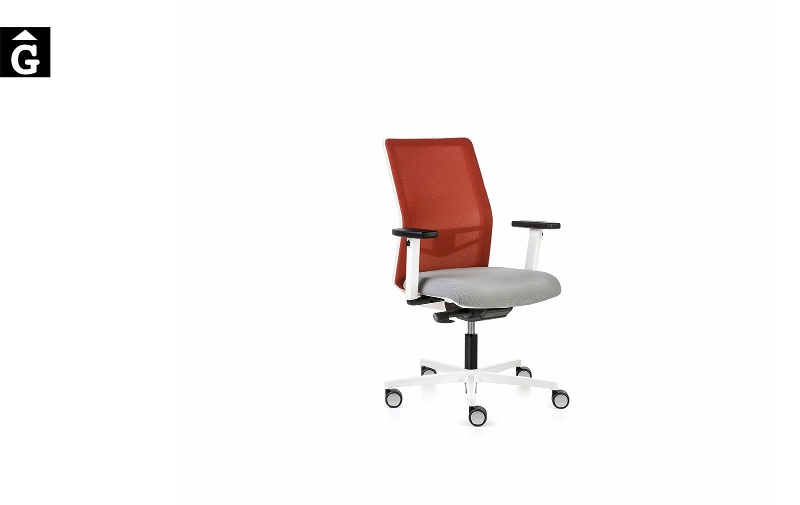 Cadira despatx Equis Blanca | Vista perfil | Cadira operativa Dile | mobiliari d'oficina molt interessant | mobles Gifreu | botiga | Contract | Mobles nous oficina