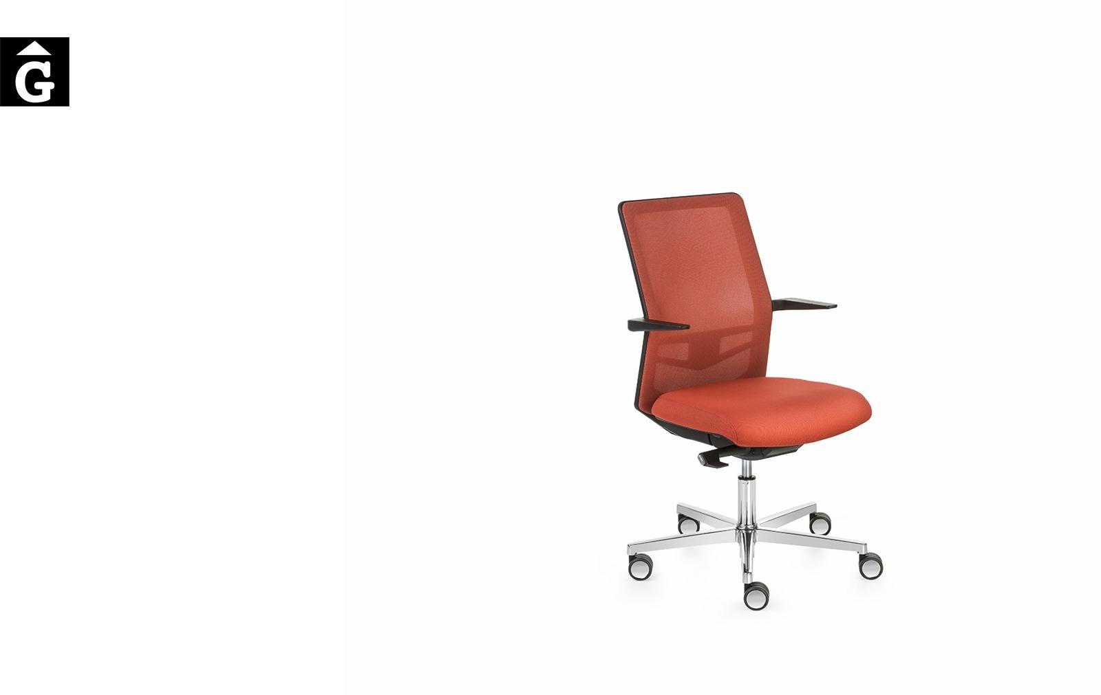 Cadira despatx Equis de Jorge Pensi | Vista perfil | Dile | mobiliari d'oficina molt interessant | mobles Gifreu | botiga | Contract | Mobles nous oficina