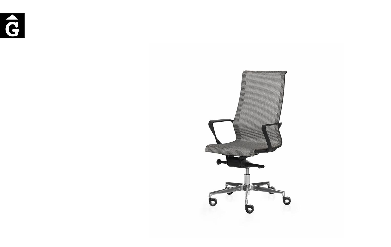 Cadira despatx X-Light malla gris de Dile | Vista general | mobiliari d'oficina molt interessant | Dileoffice | mobles Gifreu | botiga | Contract | Mobles nous oficina