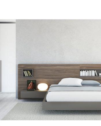 Habitació Capçal Box Xapa fusta natural nogal antic   Besform mobles Gifreu   Mobles de qualitat i a mida   Girona