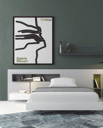 Habitació capçal Box laca blanca mate   Besform mobles Gifreu   Mobles de qualitat i a mida   Girona