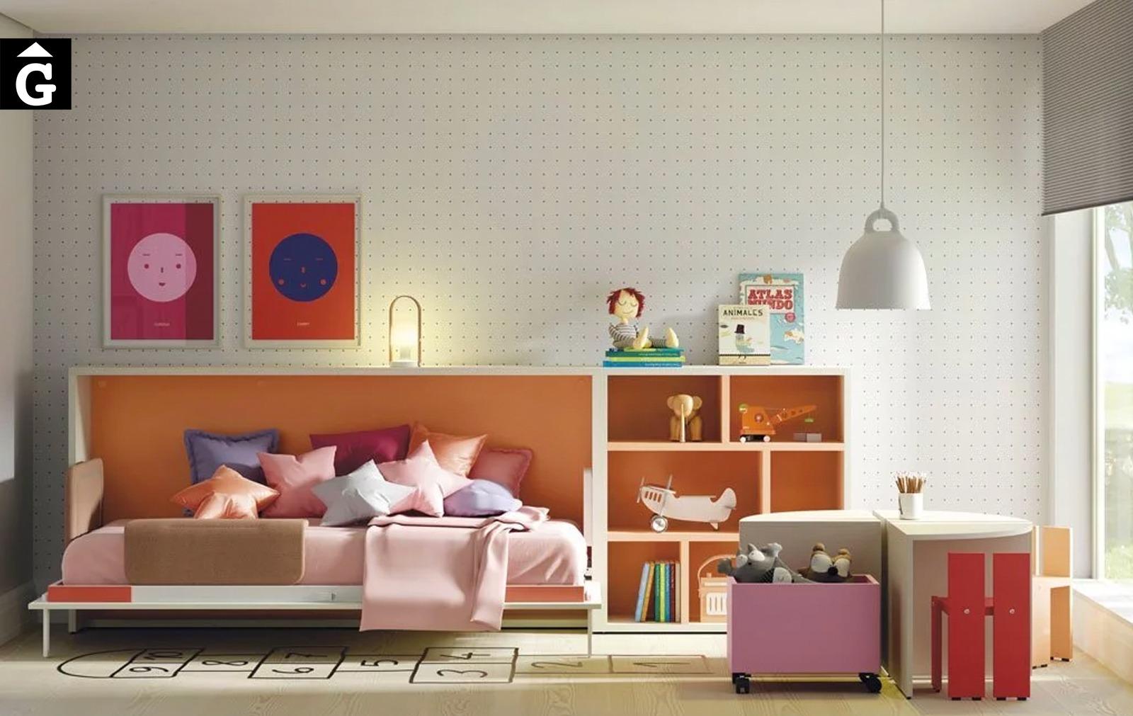 Habitació infantil amb llit abatible obert   Up & Down   llits abatibles   Pràctics, saludables i segurs   Jotajotape   mobles Gifreu