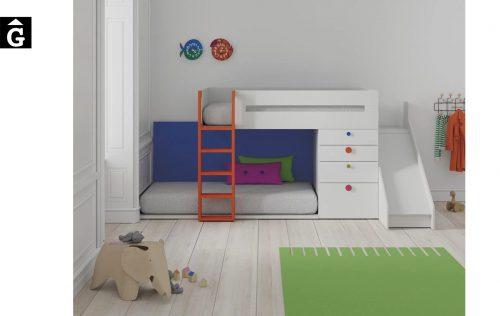 Habitació infantil amb llit tobogan Up | Infinity | llits abatibles | Pràctics, saludables i segurs | Jotajotape | mobles Gifreu