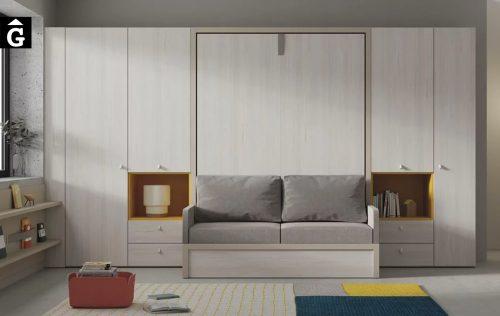 Habitació llit gran abatible amb sofà Infinity | llits abatibles | Pràctics, saludables i segurs | Jotajotape | mobles Gifreu