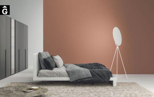 Habitació llit gran entapissat Sigma | Besform mobles Gifreu | Mobles de qualitat i a mida | Girona