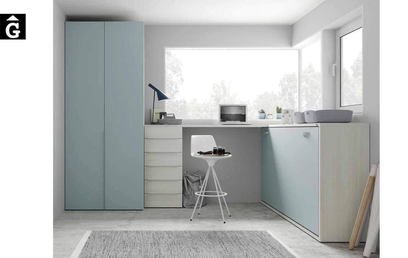 Moble estudi amb escriptori alt   Up & Down   llits abatibles   Pràctics, saludables i segurs   Jotajotape   mobles Gifreu