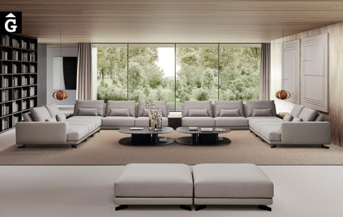 Sofà Joquer Pulse Gran Raconera Doble | Joquer | Sofàs a mida | grans | llargs | Moderns | Modulars | per la teva llar | Comprar sofà | mobles Gifreu | Botiga | Distribuïdor Girona