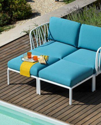 Sofà Komodo 2places Blanc i Adriàtic Nardi   mobiliari d'exterior amb disseny i a preus molt competitius-Recovered