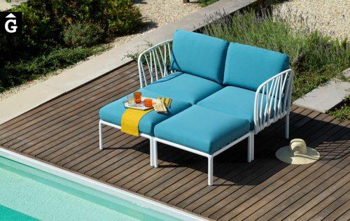 Sofà Komodo 2places Blanc i Adriàtic Nardi | mobiliari d'exterior amb disseny i a preus molt competitius-Recovered