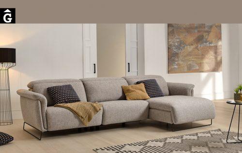 Sofà chaise longue relax elèctric Ashley | Molt confortable | Bobbio | Sofàs a mida | grans | llargs | Moderns | Modulars | Per a casa | Comprar sofà | mobles Gifreu | Botiga | Distribuïdor Girona