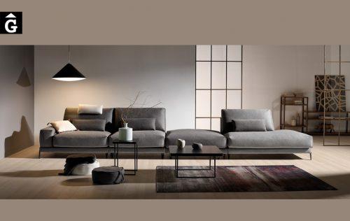 Sofà llarg amb mòdul terminal Beatrice| Bobbio | Sofàs a mida | grans | llargs | Moderns | Modulars | Per a casa | Comprar sofà | mobles Gifreu | Botiga | Distribuïdor Girona