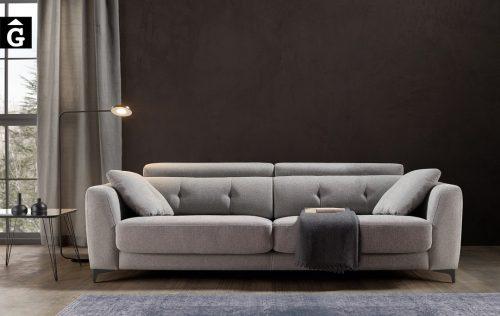 Sofà petit seients lliscants Claudia | Bobbio | Sofàs a mida | grans | llargs | Moderns | Modulars | Per a casa | Comprar sofà | mobles Gifreu | Botiga | Distribuïdor Girona