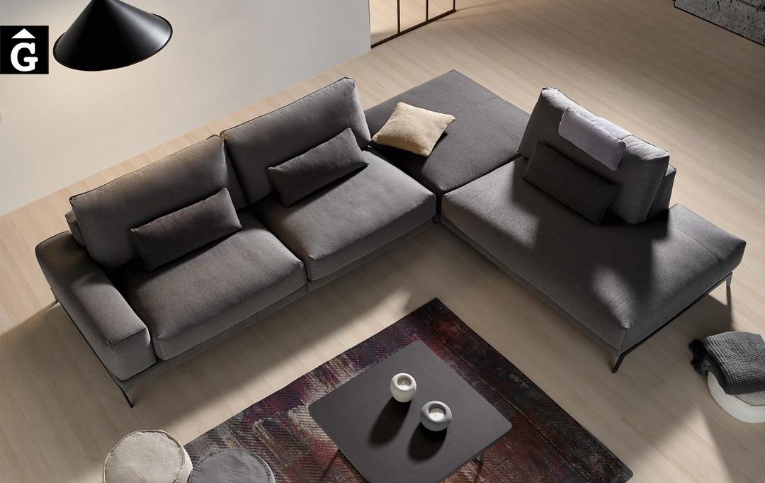 Sofà raconera oberta Beatrice | Composició gran i atractiva| Bobbio | Sofàs a mida | grans | llargs | Moderns | Modulars | Per a casa | Comprar sofà | mobles Gifreu | Botiga | Distribuïdor Girona