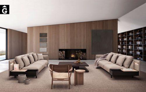Sofas Silence Joquer amb tauleta auxiliar | Joquer | Sofàs a mida | grans | llargs | Moderns | Modulars | per la teva llar | Comprar sofà | mobles Gifreu | Botiga | Distribuïdor Girona