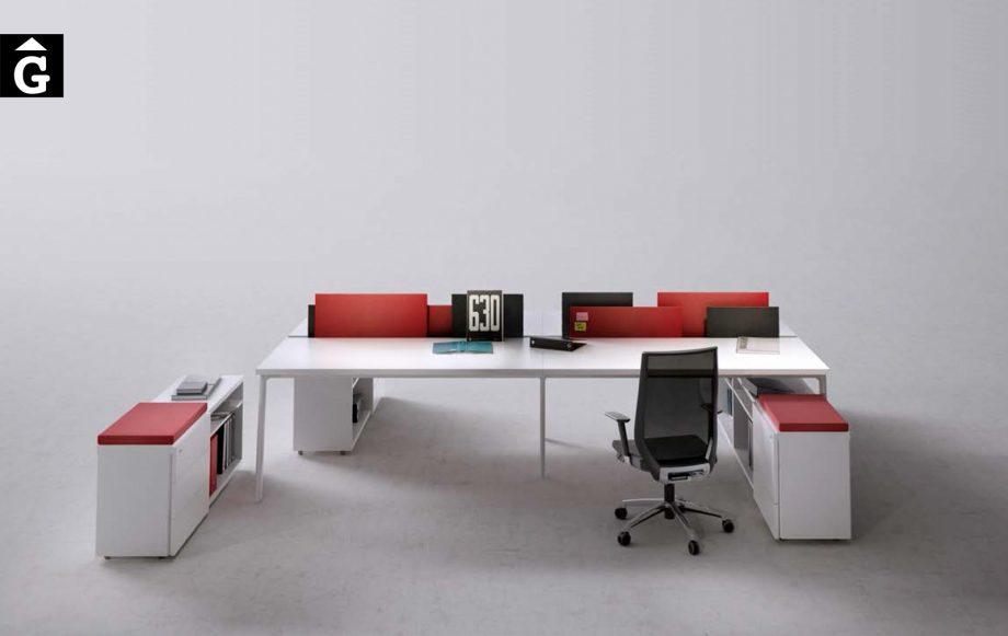 Taula de treball per 4 persones sistema M10 | Molt pràctic i funcional | Disseny Mario Ruiz | Forma 5 | mobiliari d'oficina molt interessant | mobles Gifreu | botiga | Contract | Mobles nous d'oficina