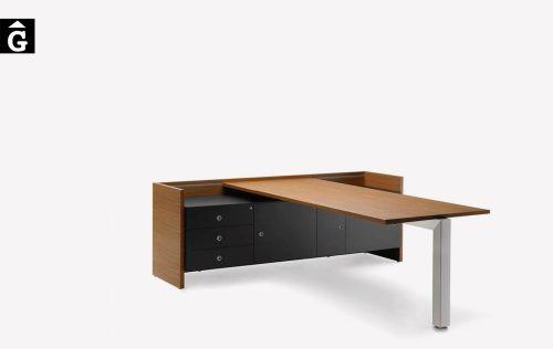 Taula despatx executiu Quorum | Forma 5 | mobiliari d'oficina molt interessant | mobles Gifreu | botiga | Contract | Mobles nous d'oficina