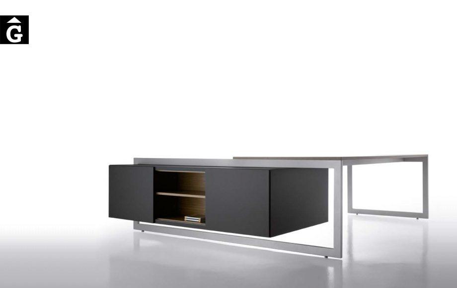 Taula despatx executiu extremada Vector | Josep Lluscà | Forma 5 | mobiliari d'oficina molt interessant | mobles Gifreu | botiga | Contract | Mobles nous d'oficina