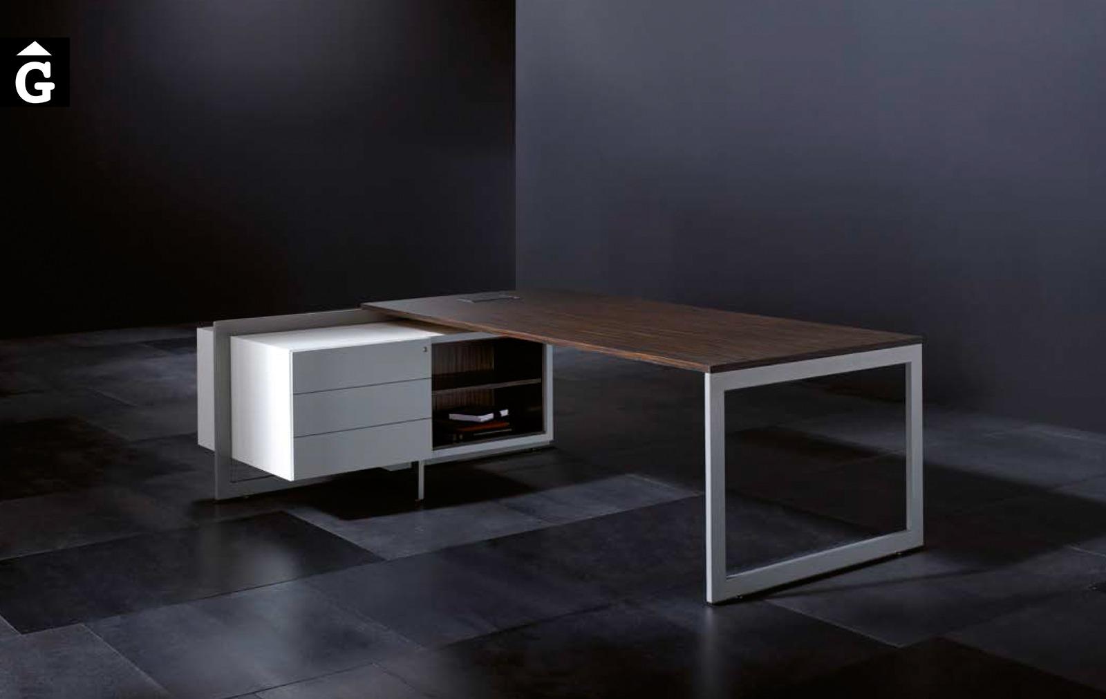 Taula oficina executiu de xapa natural | Josep Lluscà | Forma 5 | mobiliari d'oficina molt interessant | mobles Gifreu | botiga | Contract | Mobles nous d'oficina