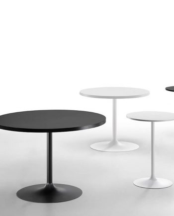 Taules rodones peu central Infinity | Sobre crystalceramic | MIDJ |Taules i cadires de disseny actual | modern i conservador| casual i elegant | mobles Gifreu | Productes de qualitat