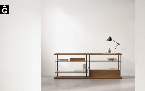 Moble multifuncional Bost realitazat en xapa de fusta i metall | Sistema modular estanteria Bost dissenyat per Yonoh | Treku | mobles contemporanis amb tradició | mobles Gifreu